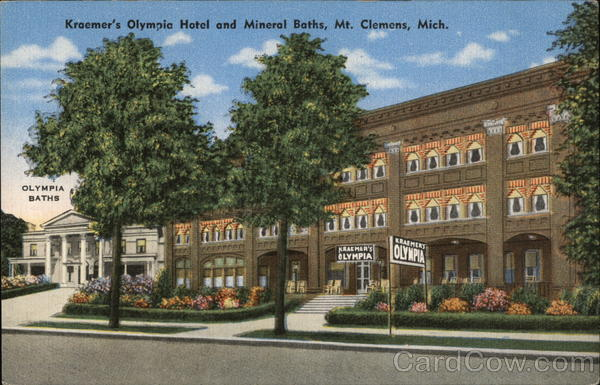 Kraemer's Olympia Hotel and Mineral Baths Mount Clemens Michigan