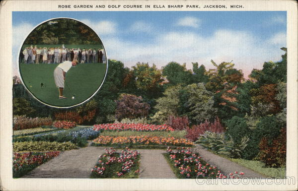 Rose Garden and Golf Course in Ella Sharp Park Jackson Michigan