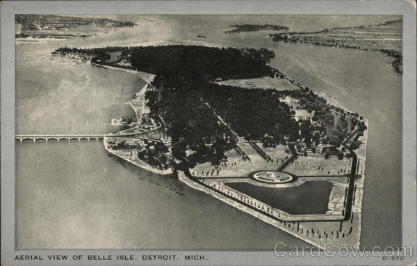 Aerial View of Belle Isle Detroit Michigan