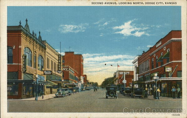Second Avenue, Looking North Dodge City Kansas