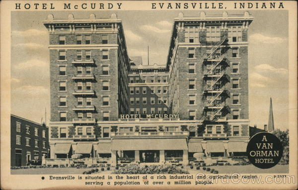 Hotel McCurdy Evansville Indiana