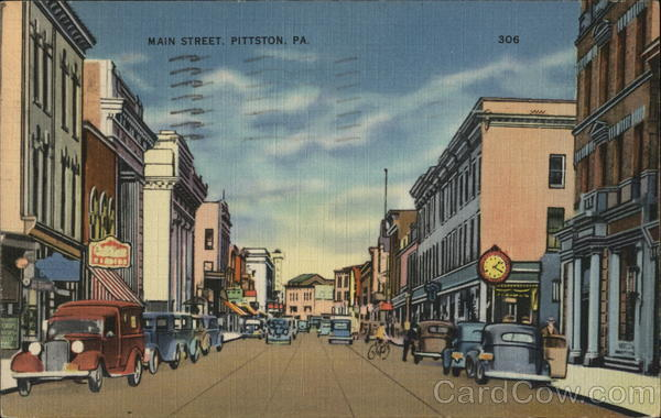 Main Street Pittston Pennsylvania
