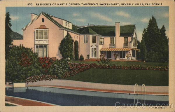 Residence of Mary Pickford Beverly Hills California