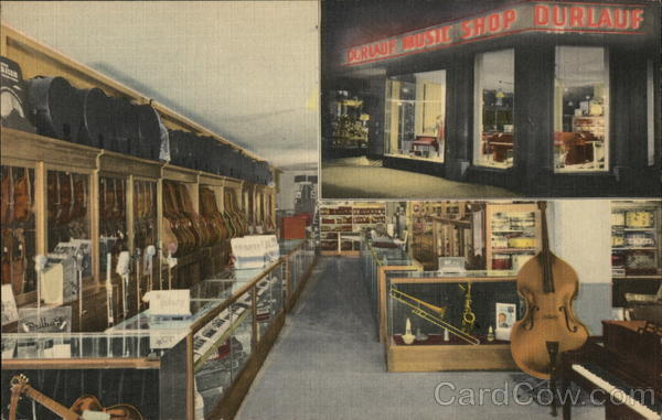 durlauf music shop louisville ky postcard. Black Bedroom Furniture Sets. Home Design Ideas