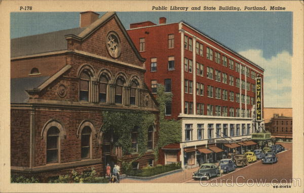 Public Library and State Building Portland Maine