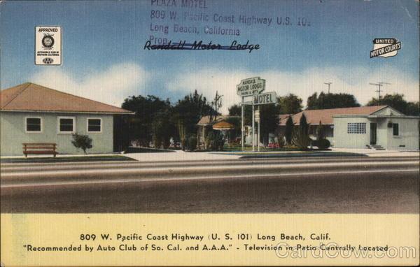 Randall motor lodge long beach ca postcard Randall motors