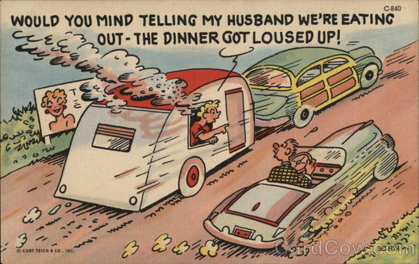 Car Passing Camper Comic, Funny Trailers, Campers & RVs