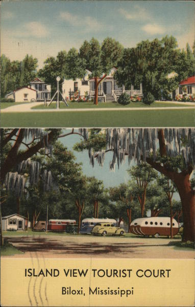 Island View Tourist Court Biloxi Mississippi Trailers, Campers & RVs