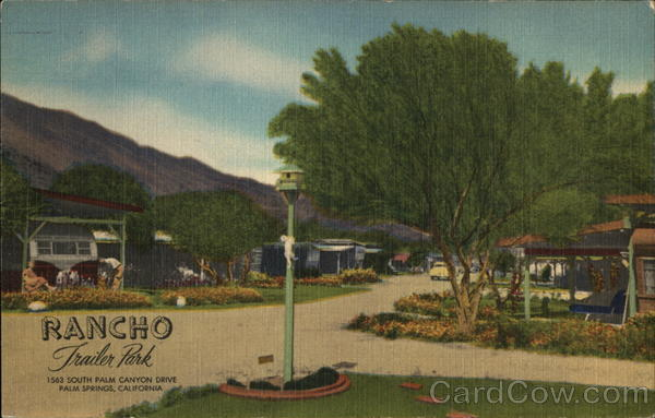 Rancho Trailer Park Palm Springs California Trailers, Campers & RVs