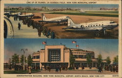 Line up of Planes, La Guardia Field, New York Municipal Airport