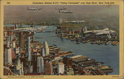 "Formation - Boeing B-17's ""Flying Fortresses"" Over East River"