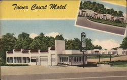 Tower Court Motel Postcard