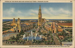 Avenue of the Seven Seas and Exposition Tower, Treasure Island