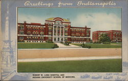 Robert W. Long Hospital and Indiana University School of Medicine Postcard