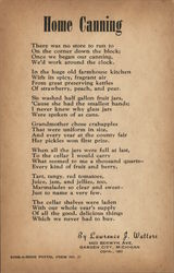 Poem About Home Canning by Lawrence J. Walters