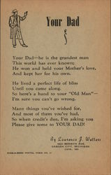 "Postal Poem ""Your Dad"" by Lawrence J. Walters"