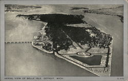 Aerial View of Belle Isle