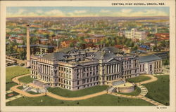 Central High School Omaha, NE Postcard