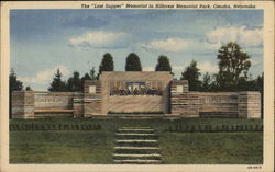 The Last Supper Memorial in Hillcrest Memorial Park Omaha, NE Postcard