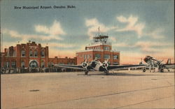 New Municipal Airport Omaha, NE Postcard