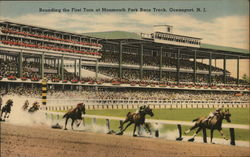 Rounding the First Turn at Monmouth Park Race Track