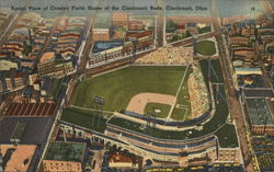 Aerial View of Crosley Field, Home of the Cincinnati Reds