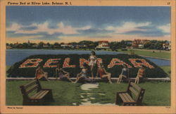 Flower Bed at Silver Lake Postcard