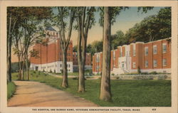 The Hospital and Nurses Home at the Veterans Administration Facility Postcard