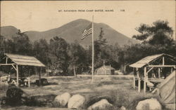 Mt. Katahdin, Camp Baxter Postcard