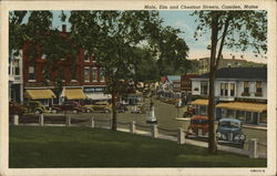Main, Elm and Chestnut Streets Postcard