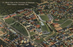 Aerial View, University of Cincinnati Main Campus