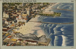 Air View, City of Long Beach Postcard