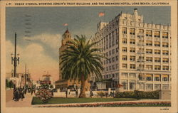 Ocean Avenue, Showing Jergin's Trust Building and the Breakers Hotel