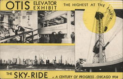 Otis Elevator Exhibit, Highest at the Fair Postcard