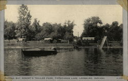 Patona Bay Resort's Trailer Park, Tippecanoe Lake Postcard