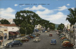 Looking Along Girard Avenue Postcard