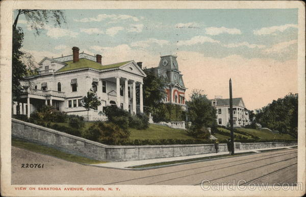 View on Saratoga Avenue Cohoes New York