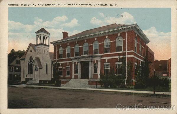Morris' Memorial and Emmanuel Lutheran Church Chatham New York
