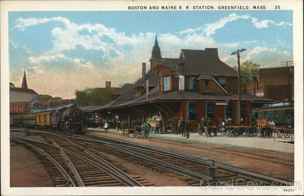 Boston and Maine R R Station Greenfield Massachusetts
