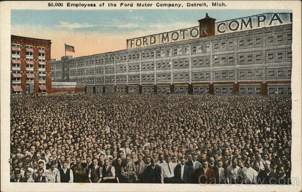 50,000 Employees of the Ford Motor Company Detroit Michigan