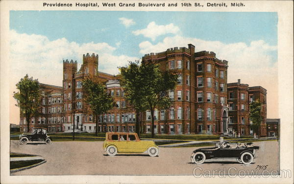 Providence Hospital, West Grand Boulevard and 14th St. Detroit Michigan