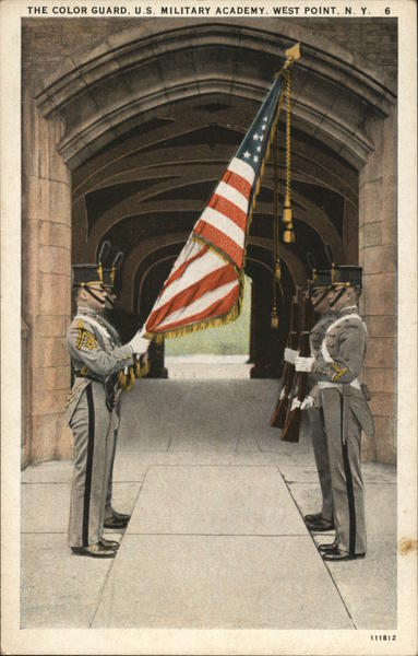 The Color Guard, U.S. Military Academy West Point New York