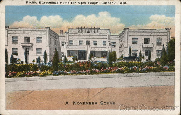 Pacific Evangelical Home for Aged People Burbank California