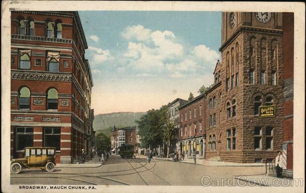 Broadway Jim Thorpe Pennsylvania