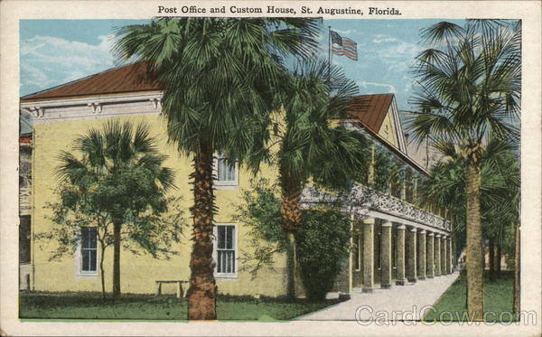 Post Office and Custom House St. Augustine Florida