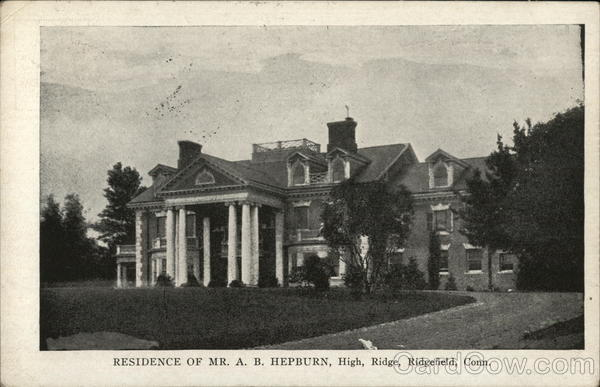 Residence of Mr. A.B. Hepburn, High Ridge Ridgefield Connecticut