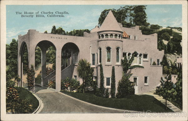 The Home of Charles Chaplin Beverly Hills California