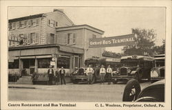 Centre Restaurant and Bus Terminal, C.L. Woolens, Proprietor
