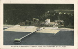 Air View of Broadwater Beach Hotel and Cottages