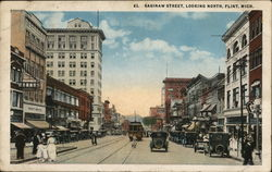 Saginaw Street, Looking North Postcard
